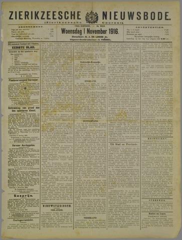 Zierikzeesche Nieuwsbode 1916-11-01