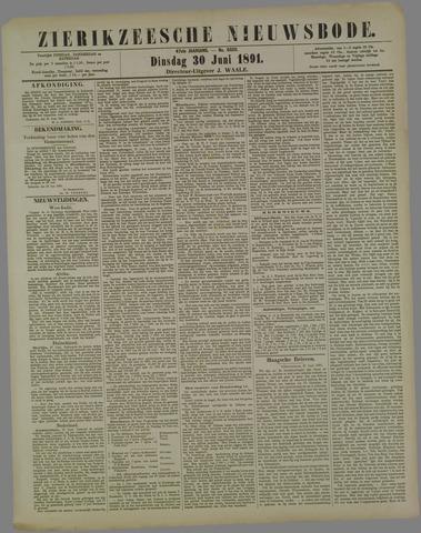 Zierikzeesche Nieuwsbode 1891-06-30