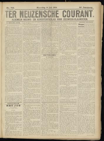 Ter Neuzensche Courant. Algemeen Nieuws- en Advertentieblad voor Zeeuwsch-Vlaanderen / Neuzensche Courant ... (idem) / (Algemeen) nieuws en advertentieblad voor Zeeuwsch-Vlaanderen 1924-07-14