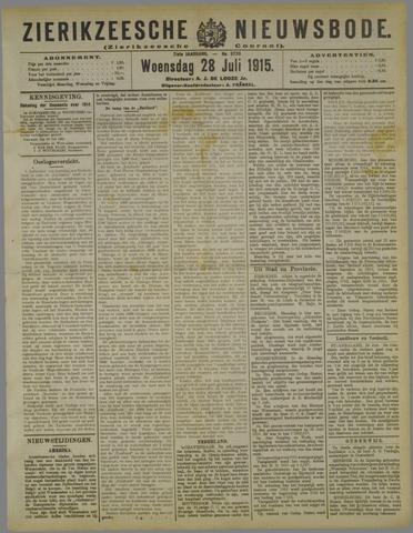 Zierikzeesche Nieuwsbode 1915-07-28