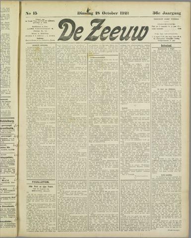 De Zeeuw. Christelijk-historisch nieuwsblad voor Zeeland 1921-10-18