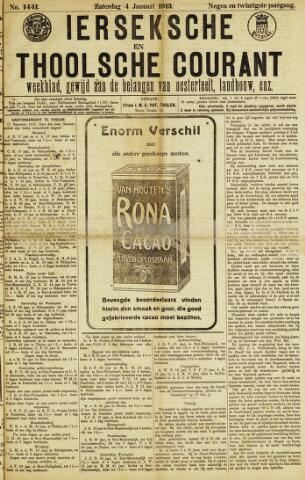 Ierseksche en Thoolsche Courant 1913-01-04