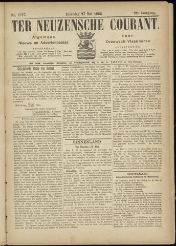 Ter Neuzensche Courant. Algemeen Nieuws- en Advertentieblad voor Zeeuwsch-Vlaanderen / Neuzensche Courant ... (idem) / (Algemeen) nieuws en advertentieblad voor Zeeuwsch-Vlaanderen 1882-05-27