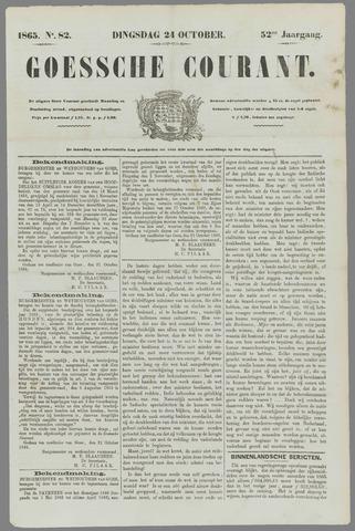 Goessche Courant 1865-10-24