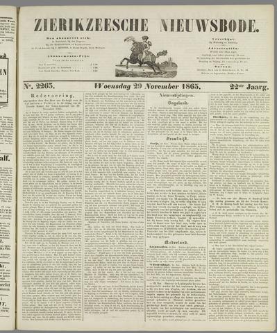 Zierikzeesche Nieuwsbode 1865-11-29