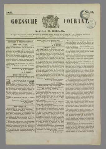 Goessche Courant 1853-02-14