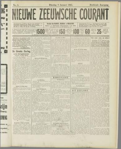 Nieuwe Zeeuwsche Courant 1917-01-09