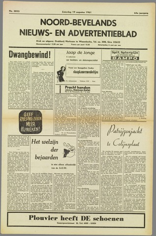 Noord-Bevelands Nieuws- en advertentieblad 1961-08-19