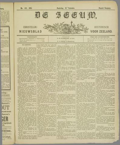 De Zeeuw. Christelijk-historisch nieuwsblad voor Zeeland 1895-09-26