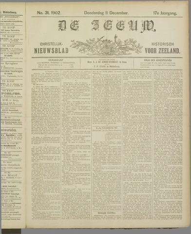 De Zeeuw. Christelijk-historisch nieuwsblad voor Zeeland 1902-12-11
