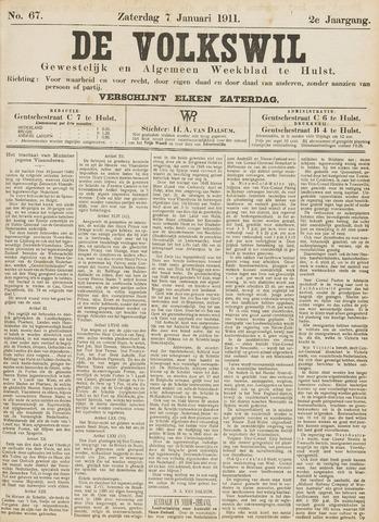 Volkswil/Natuurrecht. Gewestelijk en Algemeen Weekblad te Hulst 1911