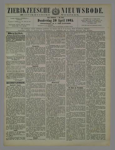 Zierikzeesche Nieuwsbode 1905-04-20