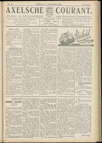 Axelsche Courant 1939-08-15