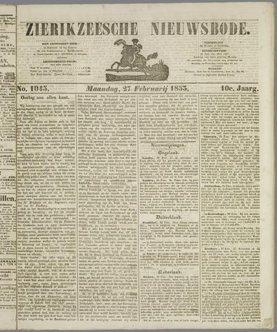 Zierikzeesche Nieuwsbode 1854-02-27
