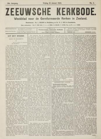 Zeeuwsche kerkbode, weekblad gewijd aan de belangen der gereformeerde kerken/ Zeeuwsch kerkblad 1924-01-18