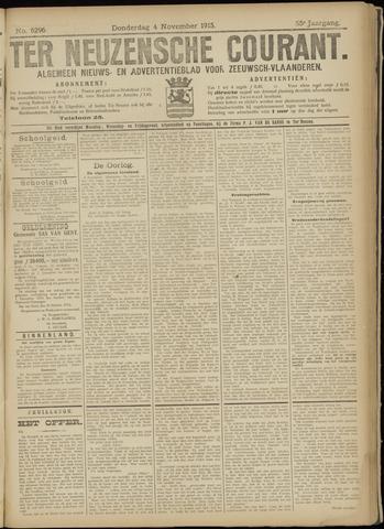 Ter Neuzensche Courant. Algemeen Nieuws- en Advertentieblad voor Zeeuwsch-Vlaanderen / Neuzensche Courant ... (idem) / (Algemeen) nieuws en advertentieblad voor Zeeuwsch-Vlaanderen 1915-11-04