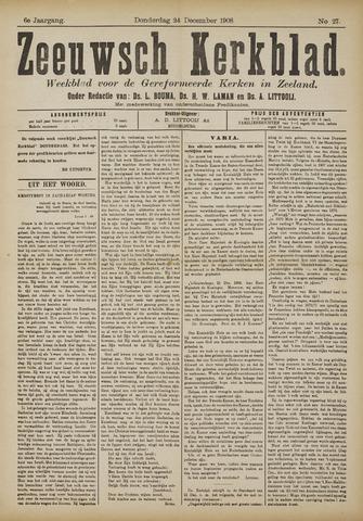 Zeeuwsche kerkbode, weekblad gewijd aan de belangen der gereformeerde kerken/ Zeeuwsch kerkblad 1908-12-24