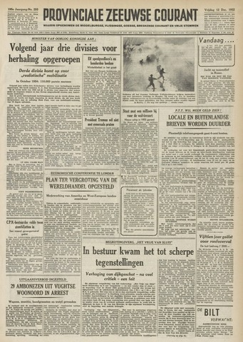 Provinciale Zeeuwse Courant 1952-12-12