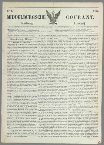 Middelburgsche Courant 1855-01-04