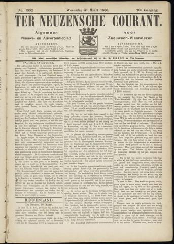 Ter Neuzensche Courant. Algemeen Nieuws- en Advertentieblad voor Zeeuwsch-Vlaanderen / Neuzensche Courant ... (idem) / (Algemeen) nieuws en advertentieblad voor Zeeuwsch-Vlaanderen 1880-03-31