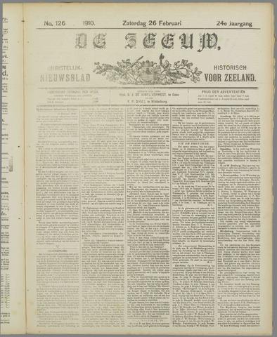 De Zeeuw. Christelijk-historisch nieuwsblad voor Zeeland 1910-02-26