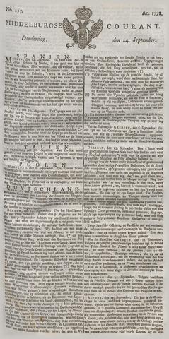 Middelburgsche Courant 1778-09-24