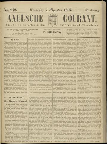 Axelsche Courant 1892-08-03