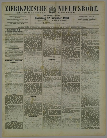 Zierikzeesche Nieuwsbode 1903-11-12