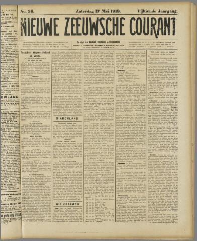 Nieuwe Zeeuwsche Courant 1919-05-17