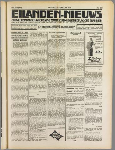 Eilanden-nieuws. Christelijk streekblad op gereformeerde grondslag 1938-03-05