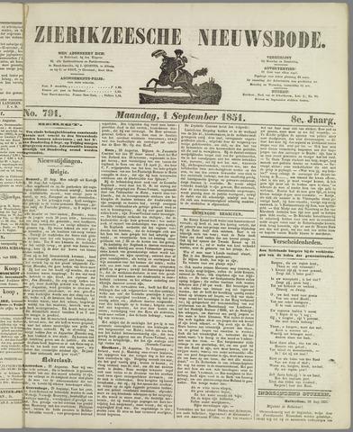 Zierikzeesche Nieuwsbode 1851-09-01