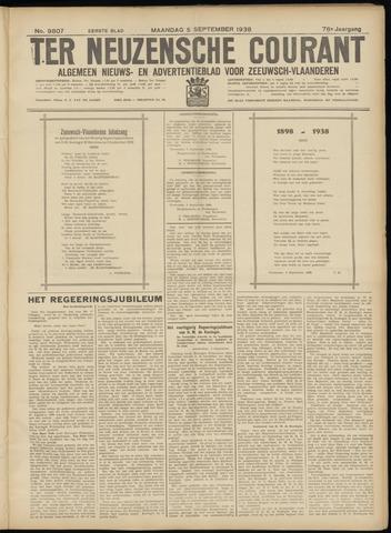 Ter Neuzensche Courant. Algemeen Nieuws- en Advertentieblad voor Zeeuwsch-Vlaanderen / Neuzensche Courant ... (idem) / (Algemeen) nieuws en advertentieblad voor Zeeuwsch-Vlaanderen 1938-09-05