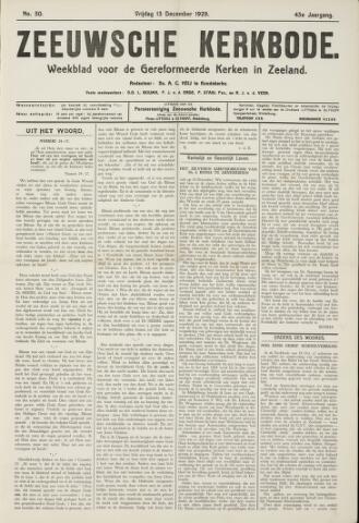 Zeeuwsche kerkbode, weekblad gewijd aan de belangen der gereformeerde kerken/ Zeeuwsch kerkblad 1929-12-13