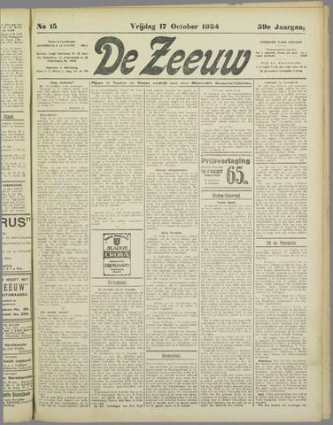 De Zeeuw. Christelijk-historisch nieuwsblad voor Zeeland 1924-10-17