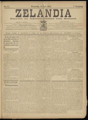 Zelandia. Nieuws-en advertentieblad voor Zeeland | edities: Het Land van Hulst en De Vier Ambachten 1902-06-18
