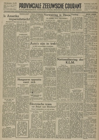 Provinciale Zeeuwse Courant 1947-07-03