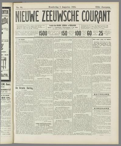 Nieuwe Zeeuwsche Courant 1915-08-05