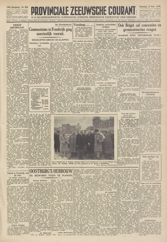 Provinciale Zeeuwse Courant 1946-11-12