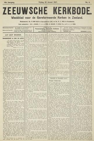 Zeeuwsche kerkbode, weekblad gewijd aan de belangen der gereformeerde kerken/ Zeeuwsch kerkblad 1927-01-28