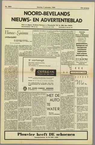 Noord-Bevelands Nieuws- en advertentieblad 1960-09-03