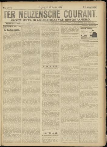 Ter Neuzensche Courant. Algemeen Nieuws- en Advertentieblad voor Zeeuwsch-Vlaanderen / Neuzensche Courant ... (idem) / (Algemeen) nieuws en advertentieblad voor Zeeuwsch-Vlaanderen 1924-10-31