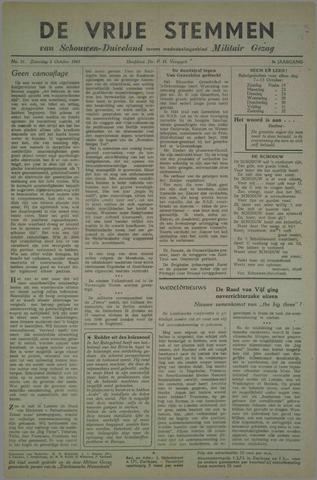 Vrije Stemmen van Schouwen-Duiveland, tevens mededeelingenblad Militair Gezag 1945-10-06