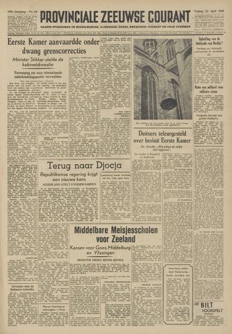 Provinciale Zeeuwse Courant 1949-04-22