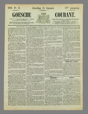 Goessche Courant 1891-01-24