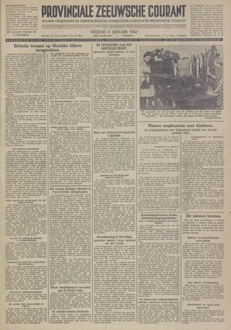 Provinciale Zeeuwse Courant 1942-01-09