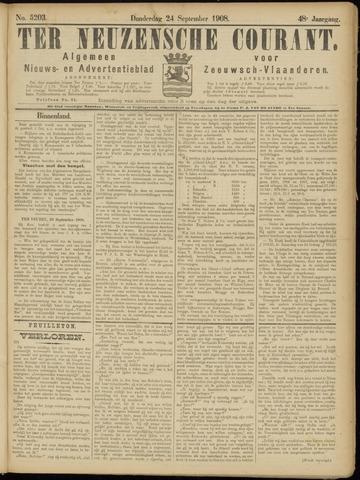 Ter Neuzensche Courant. Algemeen Nieuws- en Advertentieblad voor Zeeuwsch-Vlaanderen / Neuzensche Courant ... (idem) / (Algemeen) nieuws en advertentieblad voor Zeeuwsch-Vlaanderen 1908-09-24