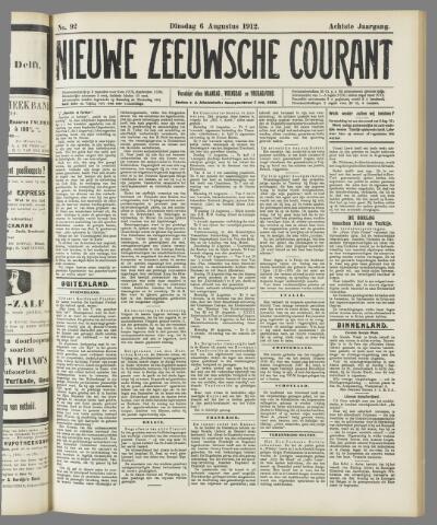 Nieuwe Zeeuwsche Courant 1912-08-06