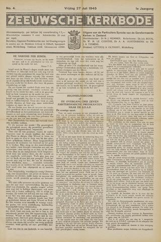 Zeeuwsche kerkbode, weekblad gewijd aan de belangen der gereformeerde kerken/ Zeeuwsch kerkblad 1945-07-27