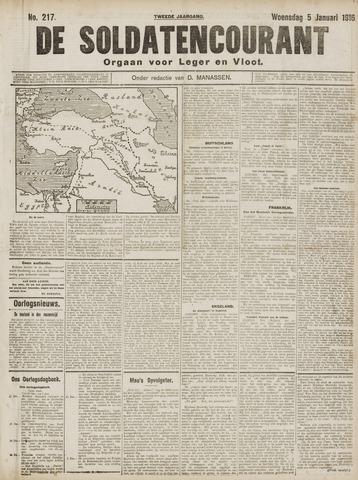 De Soldatencourant. Orgaan voor Leger en Vloot 1916-01-05