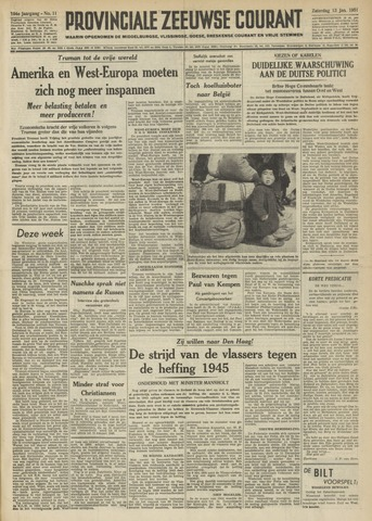 Provinciale Zeeuwse Courant 1951-01-13